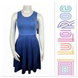 Lularoe Nicki blue tank dress